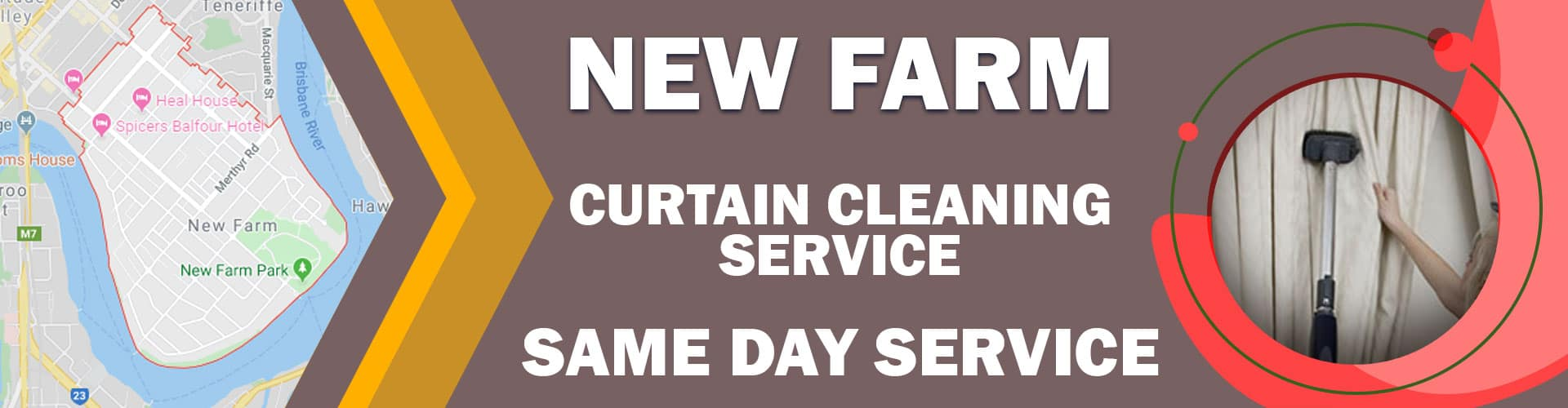 CURTAIN CLEANING NEW FARM